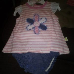 3 baby girl onesies sets